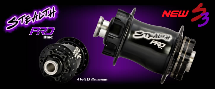 The Stealth Pro rear BMX hub with the six bolt disc option.