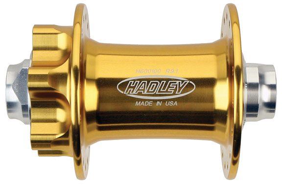More gold! The model H600100 front disc hub in 32 or 36 hole configuration.