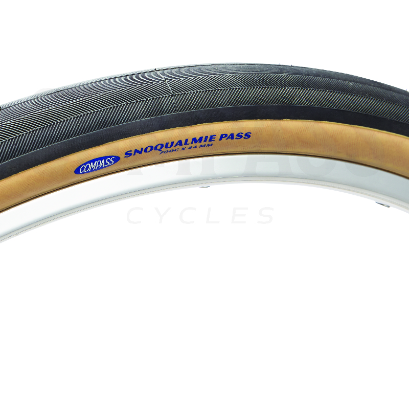 For a super plush ride the Compass Snoqualmie tire. Measures 700 X 44mm!