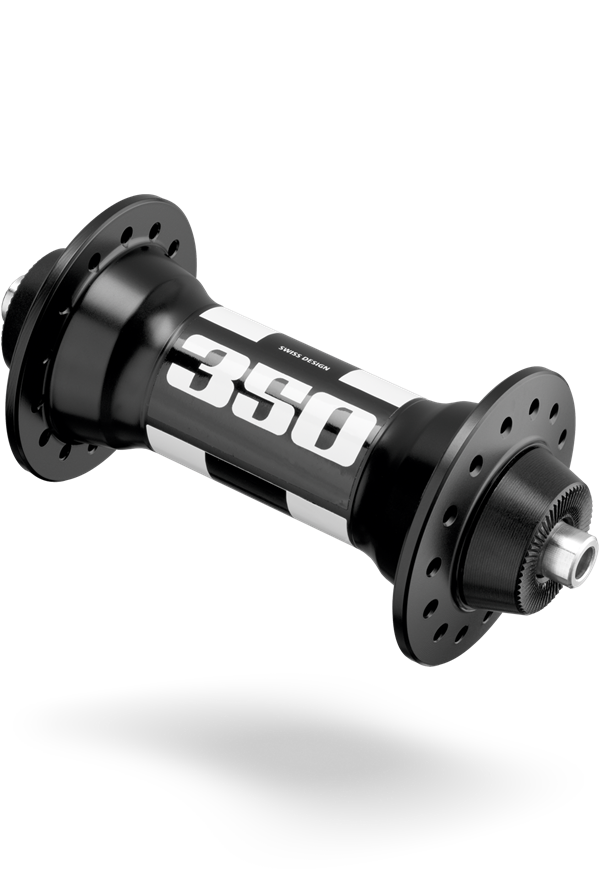 The 350 front hub weighs in at 149 grams. Its available in 20,28 and 32 spoke holes.