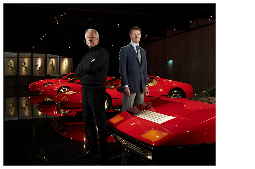 Jean-Pierre Slavic & Simon Kidston, Swiss Watch making Industrialist and Ferrari Collector © Anoush Abrar & Aimée Hoving