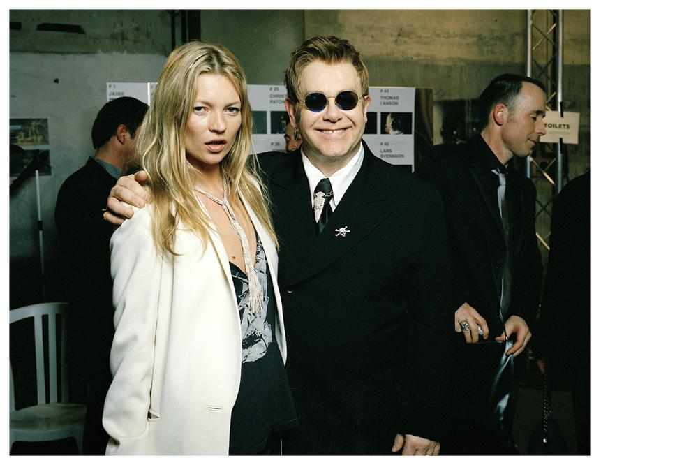 Kate Moss & Elton John, model & singer © Anoush Abrar & Aimée Hoving