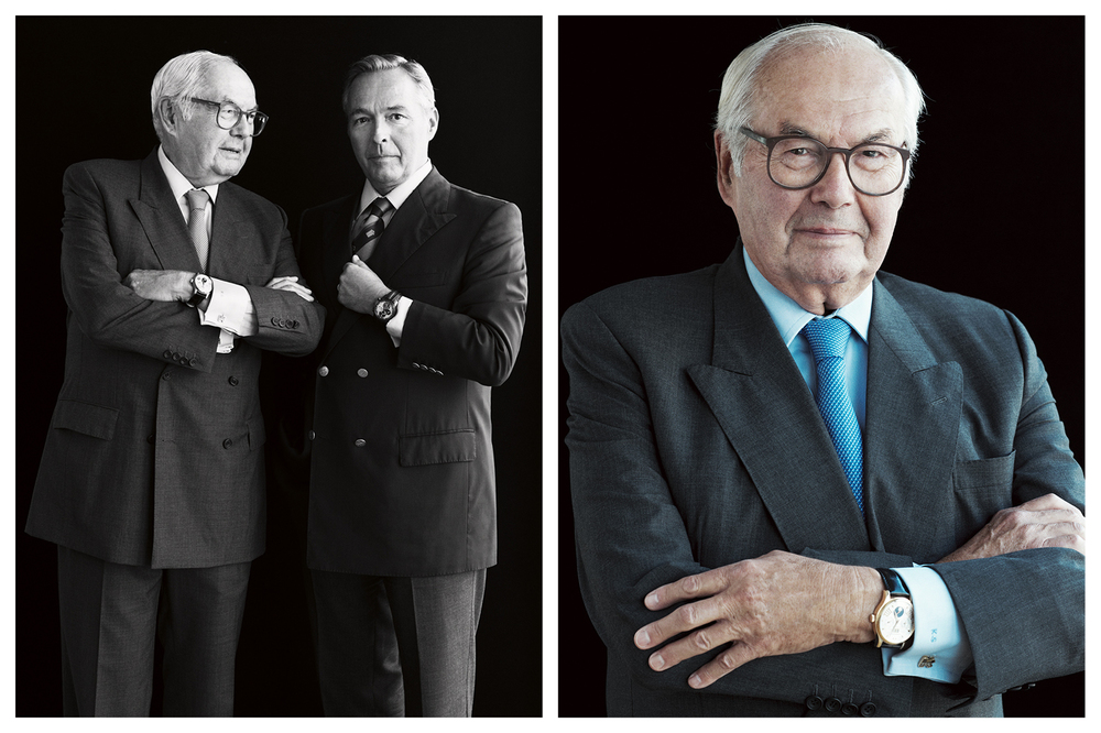 Karl (left) & Karl-Friedrich Scheufele, former president (father) and Co-President of Chopard (son)