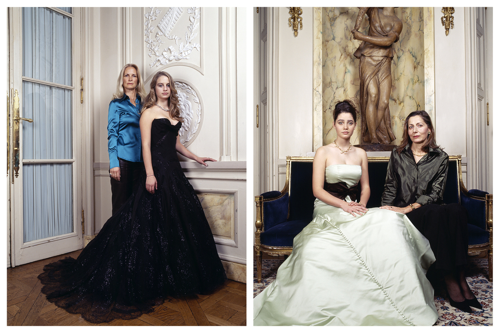 Bal des débutantes, de Laurentis (left), Mellon (right) © Anoush Abrar & Aimée Hoving