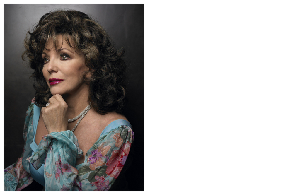 Joan Collins, actress © Anoush Abrar & Aimée Hoving