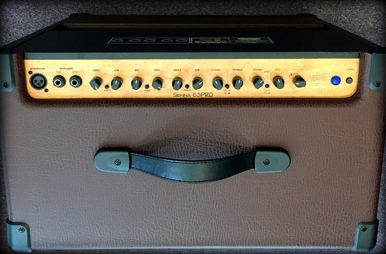 Kustom Sienna 65 Pro Acoustic Guitar Amplifier Black Hammond
