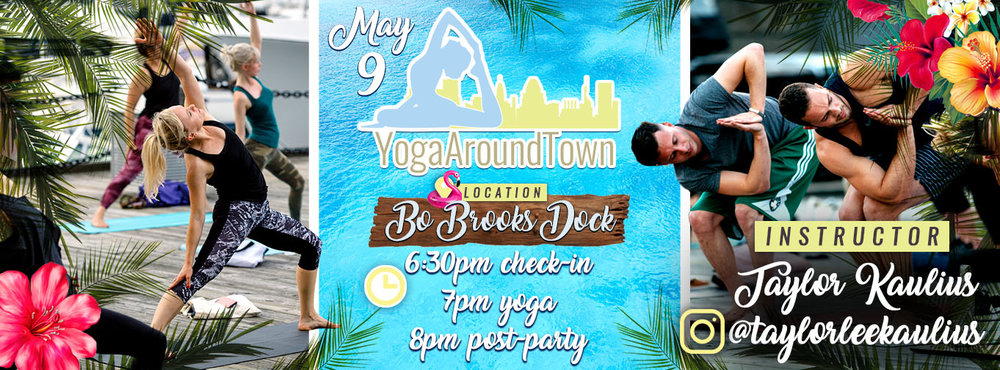 Join us, Wednesday, May 9th at Baltimore's inagural Yoga Around Town! We're taking over Bo Brooks Dock for a 60-minute all levels flow with CorePower's one and only Taylor Kaulius  @taylorleekaulius ! Hang out for the after party with tropical specials at Bo Brooks.   All tickets include a 60-minute class and a post-party at Bo Brooks.    Check-In: 6:30pm    Class: 7pm-8pm    Post-Party: 8pm-on   Questions? Please email us at  baltimore@volocity.org