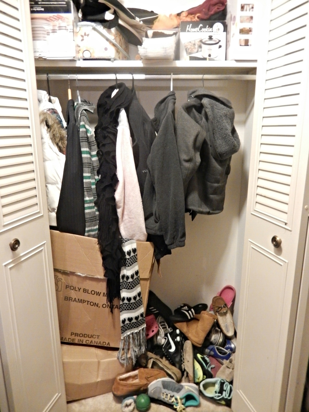Before - Front Closet