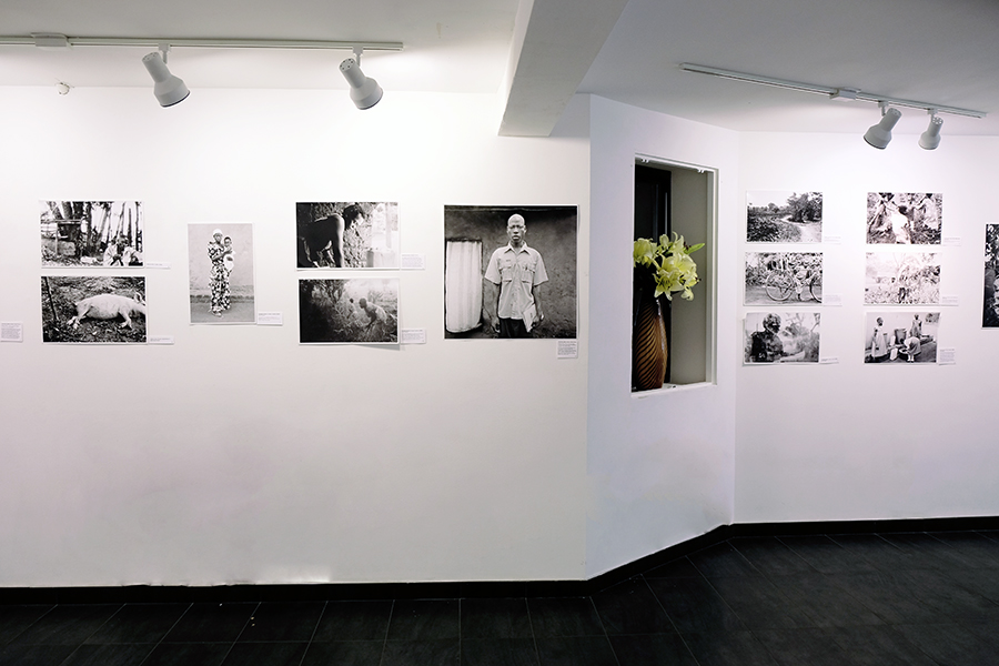 Alternate view of one walls arrangement of WPC photos from the  Picturing Wanteete  Exhibition at the Brian Morris Gallery on the Lower East Side of New York City (USA), Spring 2015.