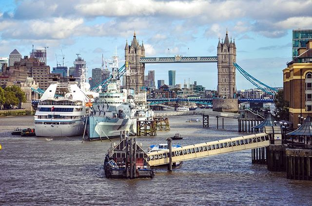 The Mighty Thames. Tower Bridge, London, United Kingdom #towerbridge #london #thames #londonbridge #hmsbelfast