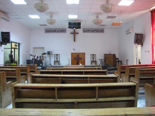 Pastor Nour's church in Mafraq.