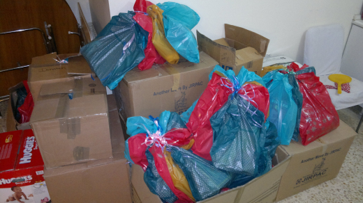 Children's packages ready to be shipping