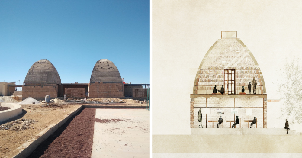 Our partners  Emergency Architecture & Human Rights (EA-HR)  are building six new classrooms for  The Azraq School . One of the domed second floors will be converted into a community library.