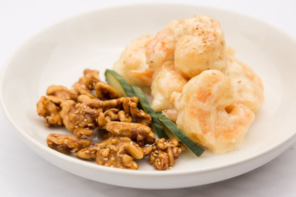Prawns With Honeyed Walnuts