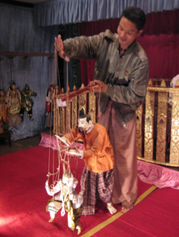 THE MARIONETTES OF BURMA- A THREATENED TRADITION - by Michael Meschke, Stockholm, Sweden