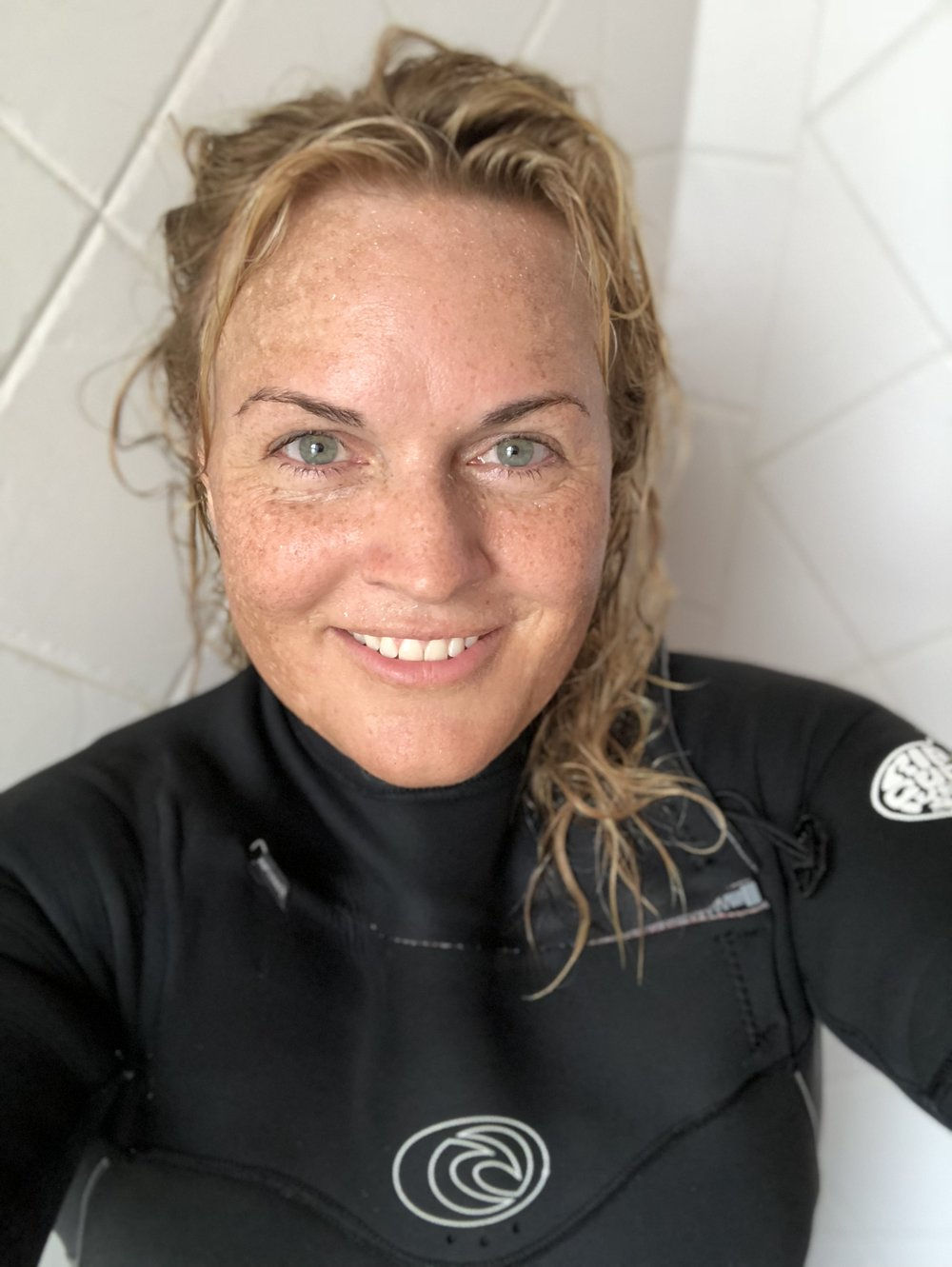 No filter, no waves, no worries: a post-surf selfie to mark this morning's realization