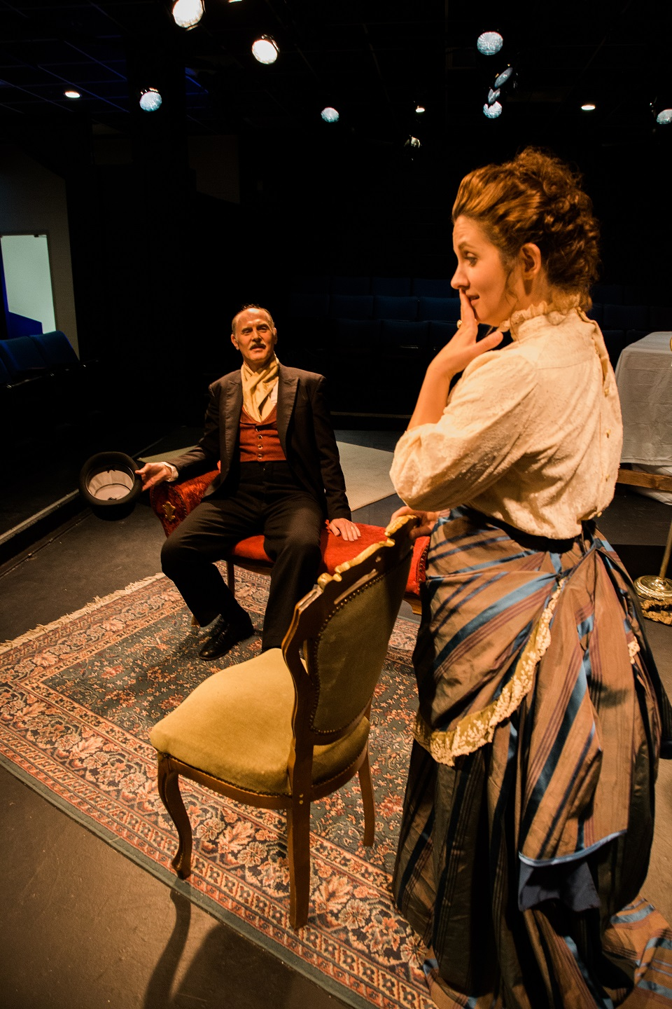 David Pasto and Lia Oldham in the 2016 production of In the Next Room (or the vibrator play)