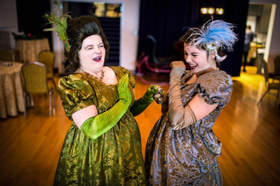 Elizabeth Brooks and Zoe Settle Jane Austen's Christmas Cracker 2015