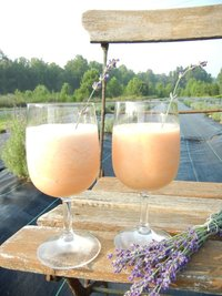 Lavender-Infused Bellini from Hauser Creek Lavender Farm