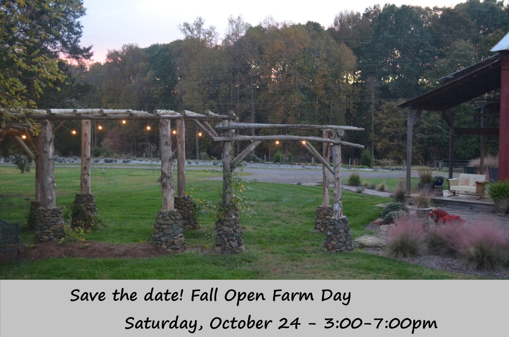 Fall Open Farm Day, Saturday, October 24 - 3:00 to 7:00 pm