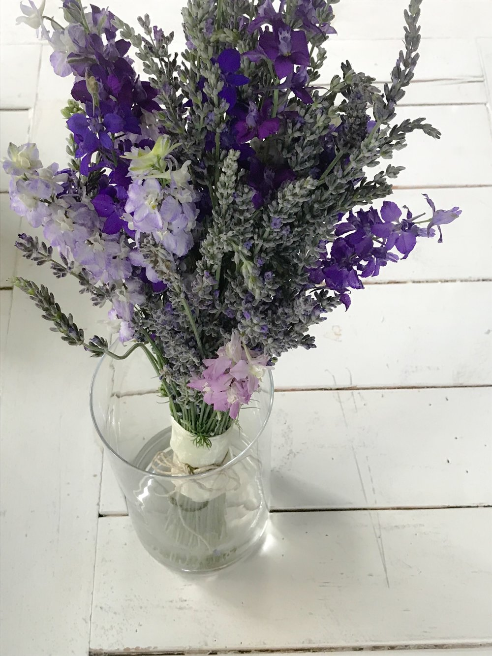 Lavender and Larkspur Bridal Bouquet, June 2018