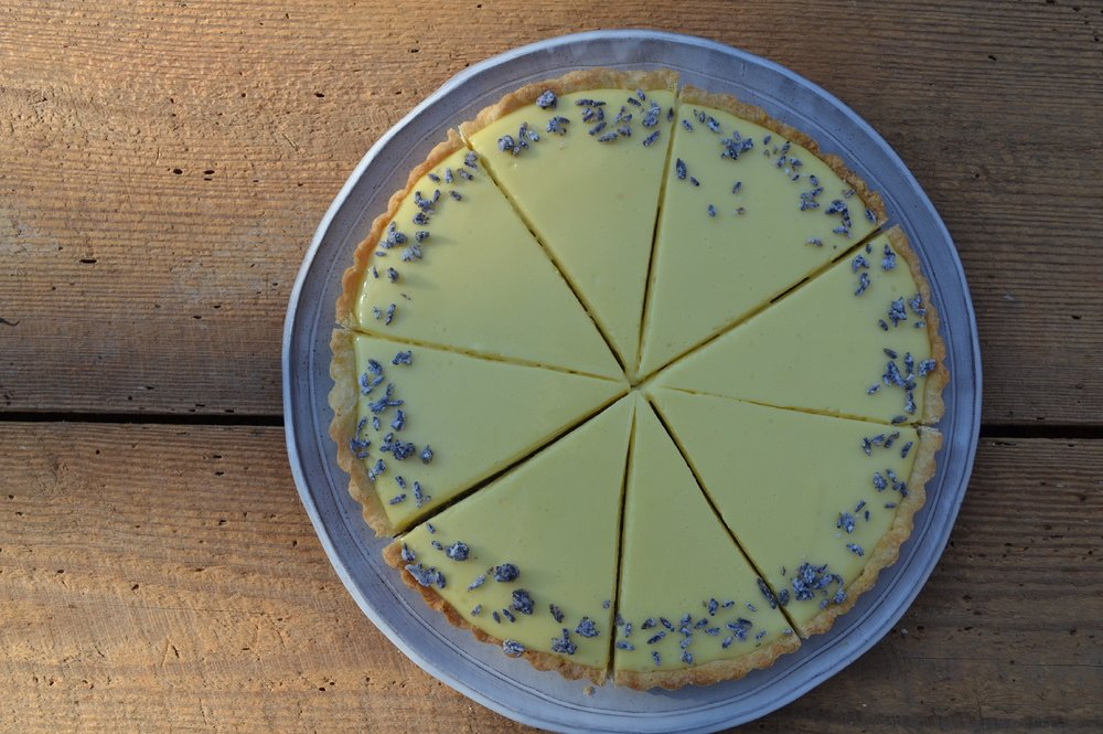 "Creamy Lemon Tart with Lavender ""Sprinkles"""
