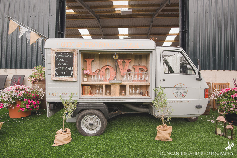 Barrel of Bubbles package £595 - Our gin & Prosecco van available for hire