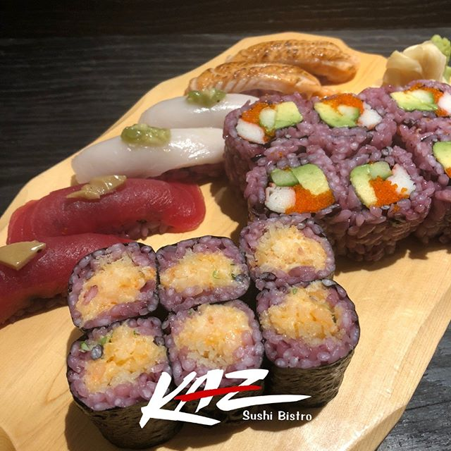 We prepared something special for your special day - purple sushi rice will be a part of our dishes on February 14th for Valentine's Day. Join us at KAZ Sushi Bistro for a celebration of love and gift your Valentine with the most authentic experience in DC!  #purplerice #japanesecuisine #sushi #delicious #dc #food #restaurants #valentinesday #love #celebrate