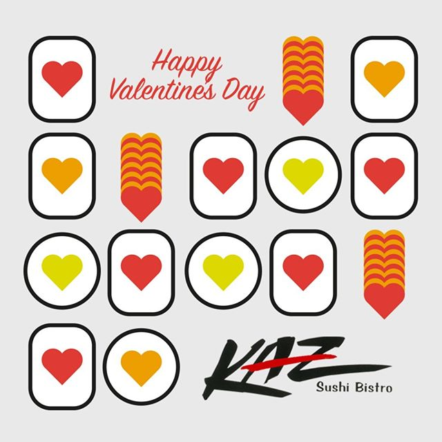 Happy Valentine's Day!  Share this holiday with your loved ones at the most unique Japanese style sushi place in Washington DC: KAZ Sushi Bistro!  See our special 5-course Macha Macha Valentine's offer.  #sushi #japanesecuisine #love #food #valentinesday