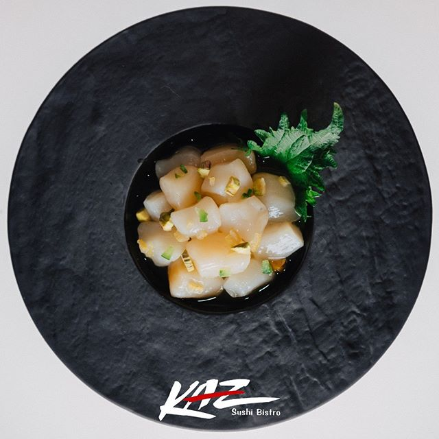 The only real way to experience true Japan in the  center of Washington is visiting KAZ Sushi Bistro. Try our bay scallop with yuzu juice and pistachio and find your new favourite spot in DC!  #kaz #sushi #scallops #food #japanese #japan #cuisine