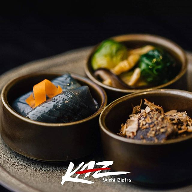 "Nothing says ""traditional Japanese cuisine"" better than ""Sozai Moriawase"". These traditional japanese vegetable dishes are fairly common in Japan, but not often seen in the US. That is why visiting Kaz Sushi Bistro offers you a unique and authentic Japanese experience.  #sushi #Japan"
