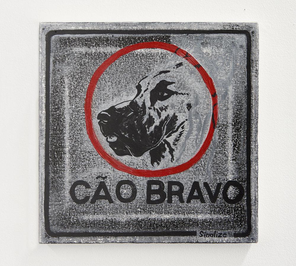 Cã0 Bravo /// Angry Dog   acrylic and oil on canvas  2017