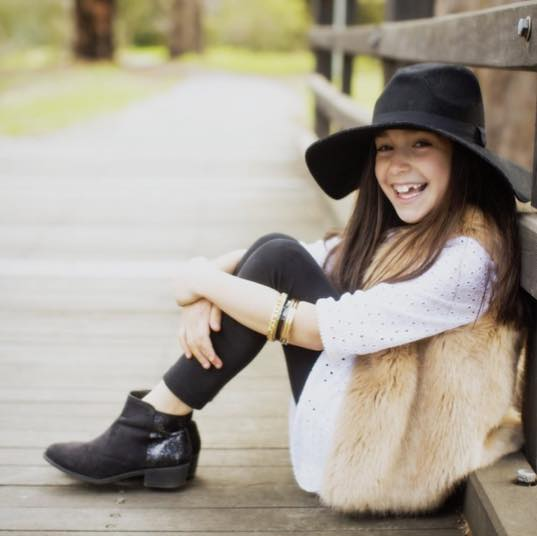 Chloe wearing Witchery Fashion hat. Follow Chloe and her mama on Instagram  @growingupstylish