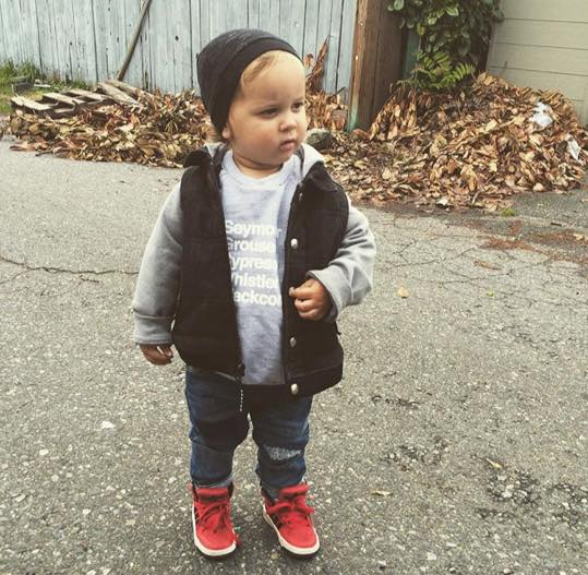 @lindz_xo This cutie is fresh in his  Good Husbands Apparel  pullover and Adidas kicks.