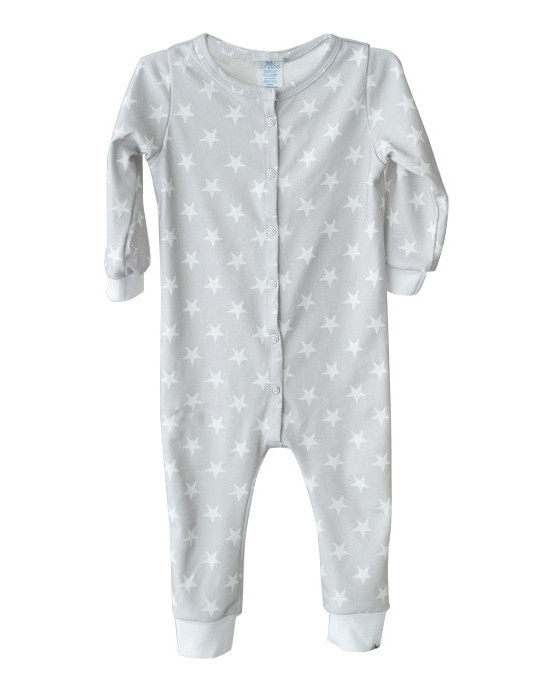 Little Citizens Orgainic Grey Stars Onesie
