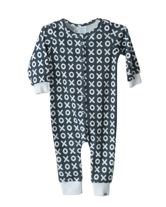 Little Citizens Organic Cotton Navy XO Onsie