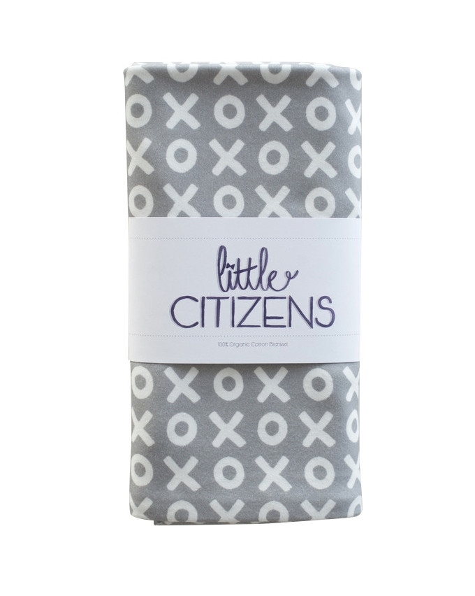 Little Citzens Organic Cotton Grey XO Blanket