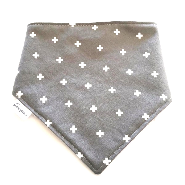 Paper Airplane Grey with White Plus Bandana Bib