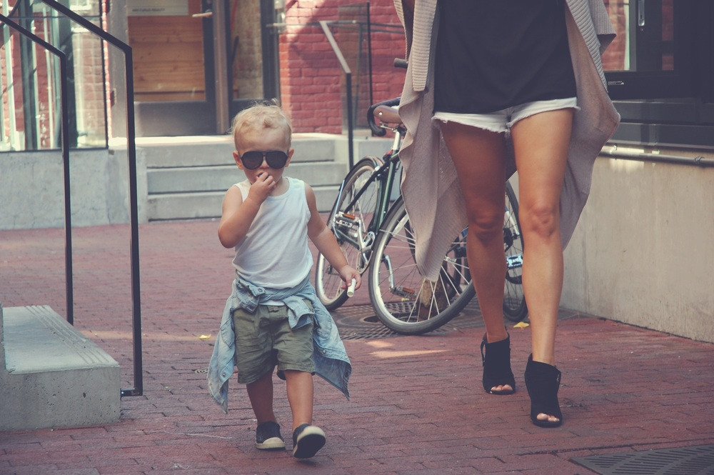Collaborating with  Jenny Edmunds Photography  with my mini me in a special shoot in Gastown, Vancouver.