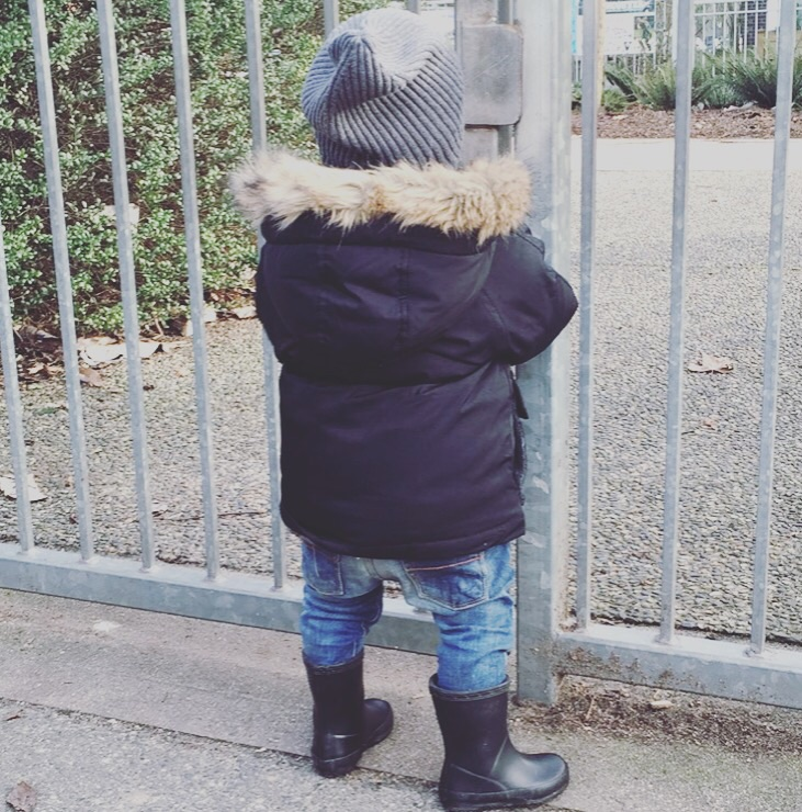 Parka from  Gap , denim pants from  Zara , beanie from  H&M