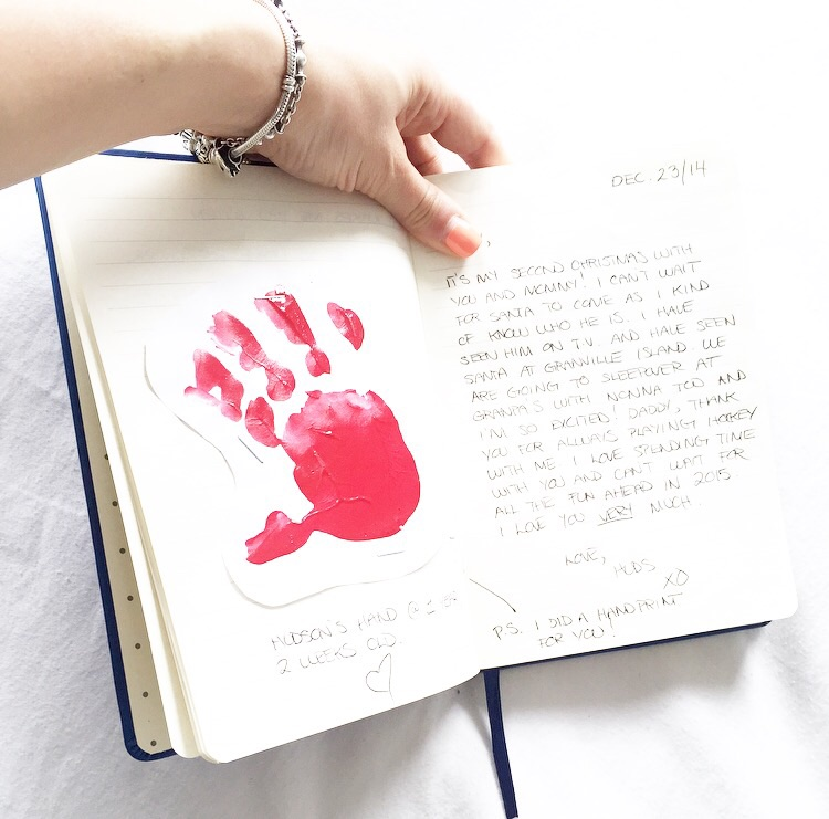 Handprints are my fav! Seeing the various sizes throughout my journal is so special.