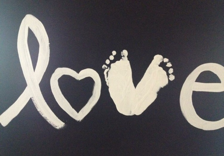 The perfect gift from infants: I created this canvas for family members when Hudson was just a few weeks old.