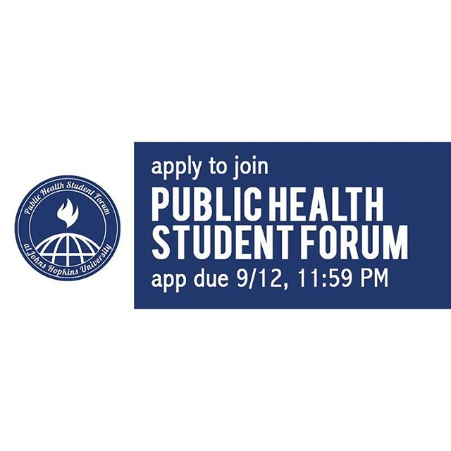 PHSF applications are now OPEN!  Apply to PHSF by 11:59 PM on Wednesday, September 12, 2018:  https://goo.gl/forms/dEelnQMA11f6REix1  Please email jhuphsf@jhu.edu if you have any questions. For more information check out our website! jhuphsf.org