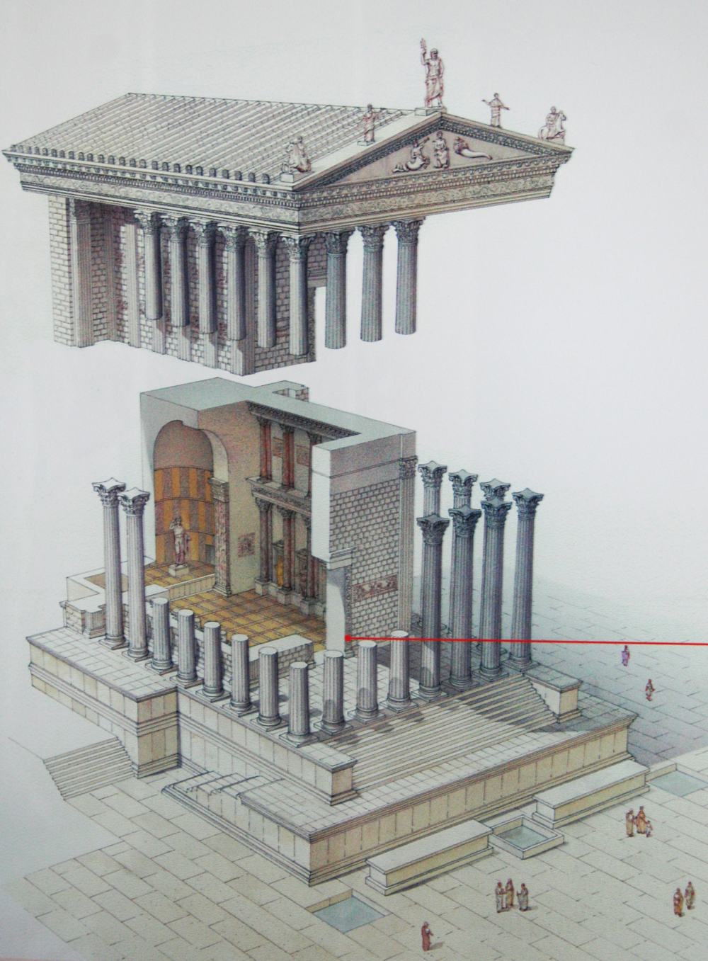 Temple of Venus Genetrix Reconstruction Trajan Market Caesar.png