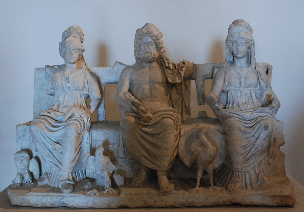 Capitoline Triad: Minerva, Iuppiter, Iuno