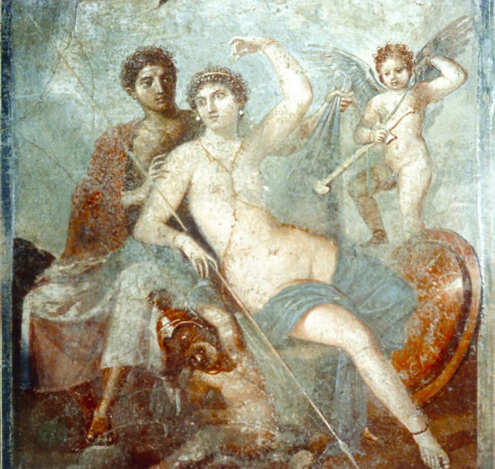 Mars and Venus Fresco from Pompeii