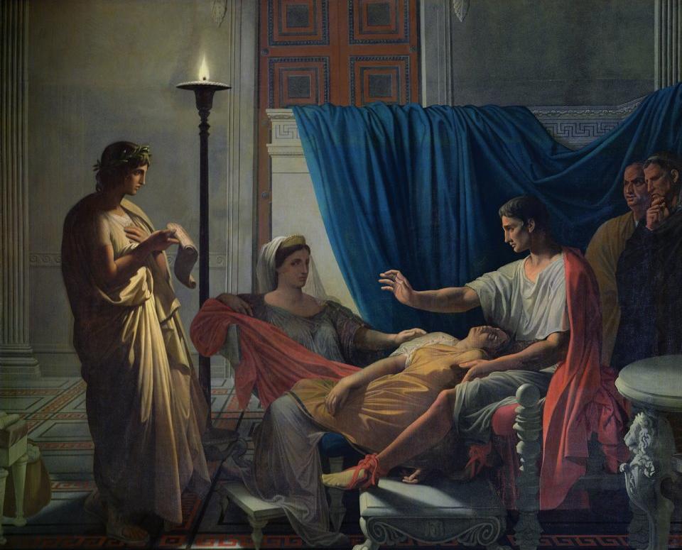 Vergil reading  Aeneid  to Livia, Octavia and Augustus.