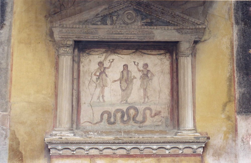 Lararium from the House of the Vetti at Pompeii
