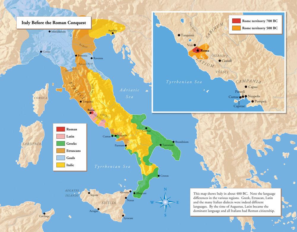 Map of Italian Peninsula early Rome Roman empire .jpg