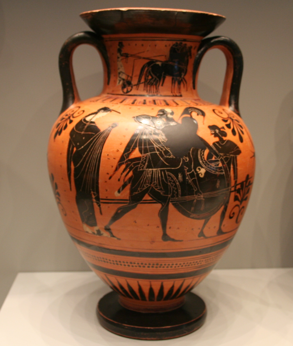 Black Figure Amphora with Aeneas, Anchises, Ascanius and Venus